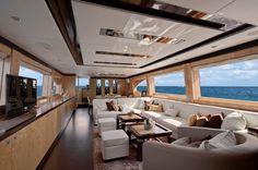 Luxury Houseboat Interiors | horizon e84 luxury yacht virginia interior