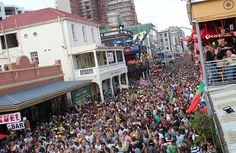 Long Street during a World Cup celebration in Cape Town