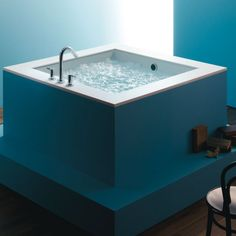 Kohler K-1968 Drop In Cube Soaking Bath Tub from the Underscore Collection