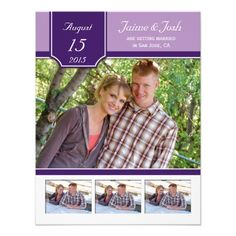 Purple Lavender Photo Save The Date