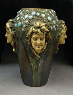 She specializes in raku and her art nouveau-inspired designs are colorful and elegant, like this vessel. Description from pinterest.com. I searched for this on bing.com/images