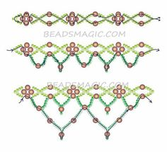 Beading patern. Seedbeads and beads.