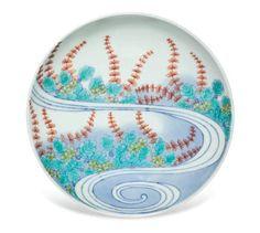 A porcelain dish, Nabeshima ware, Okawachi official kilns, Hizen (Imari city), Edo period (1680-1720)