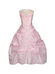 Pretty  A-line Halter Sleeveless Ruched  Floor-length  Flower Girl Dress