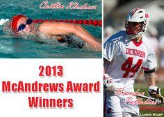 Congratulations to Caitlin Klockner and Brandon Palladino, the 2012-13 McAndrews Award Winners
