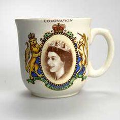 Vintage 1953 Queen Elizabeth II Coronation Mug