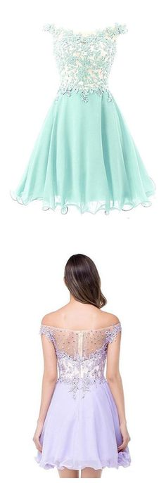 Ruched Chiffon Short Prom Dresses with Beading,Short Homecoming
