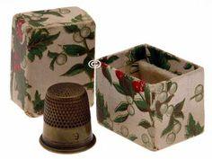 Antique Thimble w/Thimble; Circa 1900's