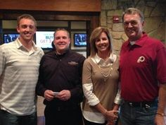 Washington Redskins Quarterback Colt McCoy enjoyed a great meal with his family at @TxLAndC in Arlington, TX, before he and his teammates beat the Dallas Cowboys.