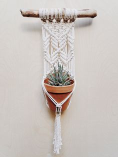 Wall Plant Hanger by ChelseaVirginia on Etsy