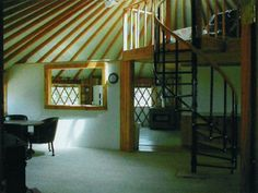 Colorado Yurt Company, interior wall and staircase added