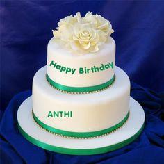 Write Name on Double Decker Cake Online Free