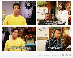 The One With Ross' Tan.. my FAVORITE!