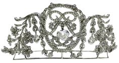 7. Belle Epoque openwork diamond tiara by Chaumet c1905. Detaching to form three smaller brooches. | Provenance: Commissioned for Dolores (Lolita) de Yturbe (1871-1939), also known as 'La Belle Mexicaine',
