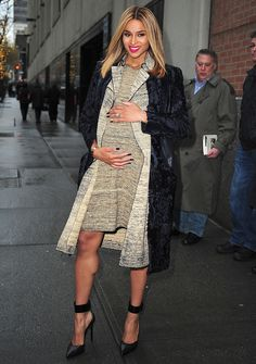 Beautiful ciara pregnant still wearing the best fashionable clothing #dope