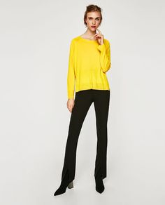 ZARA - WOMAN - SWEATER WITH SIDE SLITS IN RED THO