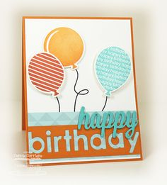 Party Balloon card by Debbie Carriere