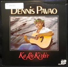 """Ka Leo Kiekie"" by Dennis Pavao. -Poki Records SP 9042, Honolulu, Hawaii, stereo, p1986. Hawaiian vinyl record."
