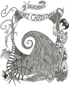 The Nightmare Before Christmas Zero Coloring Pages The nightmare before christmas