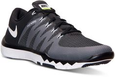 When you train, you do it relentlessly and you need a training shoe that can keep up. The newly updated Men's Nike Free Trainer 5.0 V6 Training Sneakers offer the total package of cushioning, supportive lockdown, and featherlight flexibility. Nike men's training sneakers Full-length interior sleeve for a great fit Nike Flywire technology for support Breathable mesh upper with seam-free overlays Cushy Phylon midsole Hexagonal flex grooves on the sole for a flexible, natural feel Style no…