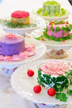 ベジデコサラダランチに3種盛り合わせセットが登場です! 華やかな3種盛り合わせプレートで笑顔があふれるランチを! This is salad!! Name is vegedecosalad☆ Sandwich Cake, Sandwiches, Cake Recipes, Dessert Recipes, Desserts, Tea Party Menu, Salad Cake, Wheat Free Recipes, Gateaux Cake