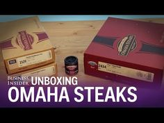 We unboxed a delivery from Omaha Steaks. This is their Dad's Day Dinner: 2 T-bones, caramel apple tartlets, fries and steak seasoning. Omaha Steaks, Dad Day, Smoking Meat, Caramel Apples