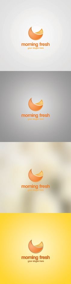 cost: $99 This logo template represent a fresh morning drop of a cold and delicious fruit juice. I used yellow and orange. Each colors and shapes are editable just contact with me at ikdesigns@abv.bg