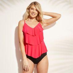 17eb77b7050 Women's Tiered Tankini - Aqua Green® Coral M : Target Coral Blush, Soft Bra