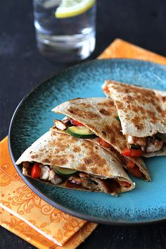 Asian Quesadilla with Chicken, Zucchini & Hoisin Sauce Recipe