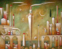 CRUCITA GUTIÉRREZ SEGOVIA: MIS AMIGOS PINTORES - CARLO MIRABASSO Painting, Famous Pictures, Cypress Trees, Fine Art, Ceiling, Graphic Art, Artists, Friends, Painting Art