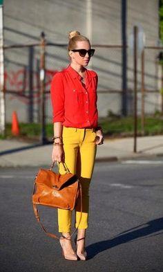 look vermelho com amarelo - Pesquisa Google