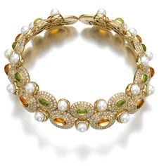 Gem set and diamond choker, Marina B   lot   Sotheby's