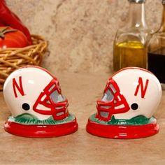 Even better! Nebraska Cornhuskers Ceramic Helmet Salt & Pepper Shakers #UltimateTailgate #Fanatics