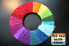 yarn-wrapped color wheel