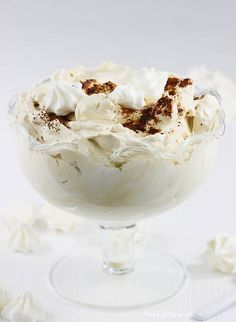 Cream with mascarpone and coffee. Recipies, Ice Cream, Sweets, Cook, Cakes, Coffee, Desserts, Mascarpone, Recipes