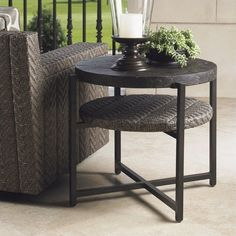 - Blue Olive - Patio End Table - 3230-950 24 high/ $1000