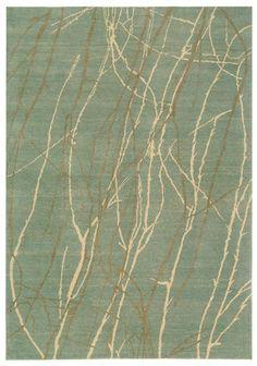 Martha Stewart Rugs - branches on blue green.