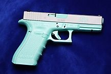Tiffany Blue & Titanium Pearl Glock - If I had a gun, this would be it cos I'm such a girl lol