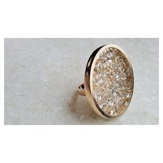 Edição especial: anel redondo swarovski com cristais silver shade. [ Compras e informações ver Bio ]