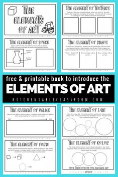 The elements of art for kids are building blocks to making and talking about great art! Use this free printable book to outline the concepts step by step!