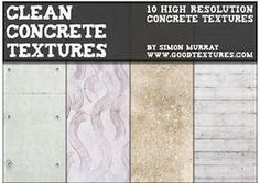 Clean Concrete Textures - http://www.dawnbrushes.com/clean-concrete-textures/