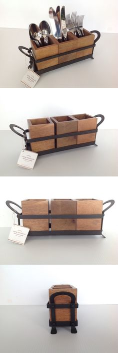 Flatware Storage 159899: Pottery Barn Vintage Blacksmith Flatware Caddy New With Tags Msrp $59 -> BUY IT NOW ONLY: $49 on eBay!