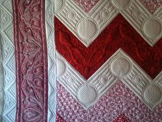 KISSed Quilts - Keeping It Simple and Stunning: Red and White Experimentation