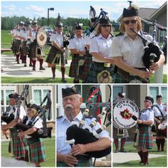 The 17 member Pipes and Drums of Manitoba visited the Good Samaritan Society – International Falls in honor of Independence Day. More than 30 residents, staff, family and members of the community enjoyed a wonderful performance in the Care Center courtyard. Senior Activities, Fun Activities, Good Samaritan Society, International Falls, Senior Fitness, Pipes, Gym Workouts, Drums, Community