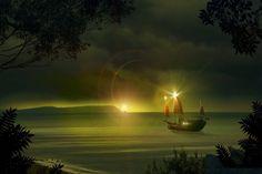 Ocean - Jean Maurice Damour (Print)