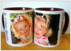 Mug rouge foncé personnalisé pour un café de bonne humeur ! #Mug