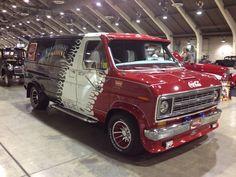 """Denimachine"" Custom 70's Ford van..vk"