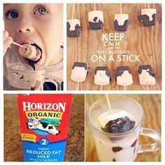 The nights are starting to get chilly...Cozy up with some hot chocolate on a stick!