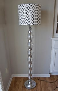 DIY lamp glamification using two liter bottles and duck tape