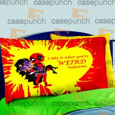 Mz2-spiderman Hearts Deadpool In Valentine Pillow Case For Bed Bedding